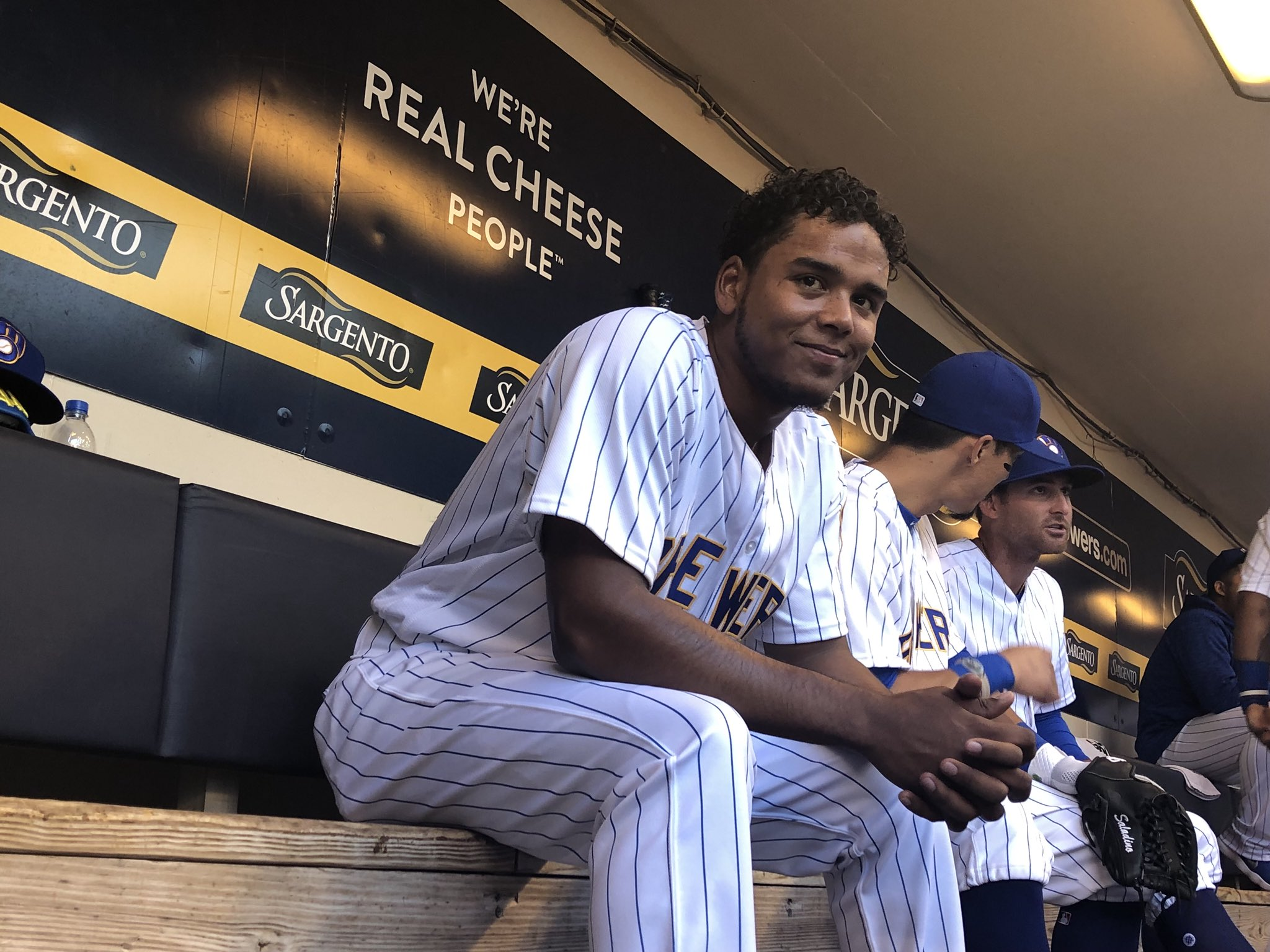 .@FreddyPeraltaRD is ready to light it up at Miller Park! Let's #PlayBall! #ThisIsMyCrew https://t.co/hROugYOqop
