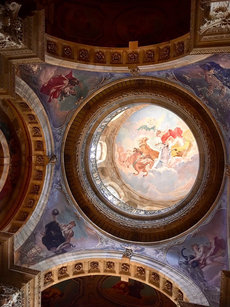 Odyssey England 2018, The Dome is probably the most easily recognizable landmark of the house at Castle Howard. The dome was completed in 1706. 70 ft in height, represent the 4 elements; Earth, Fire, Air, and Water. https://t.co/C3K1LKQv8E