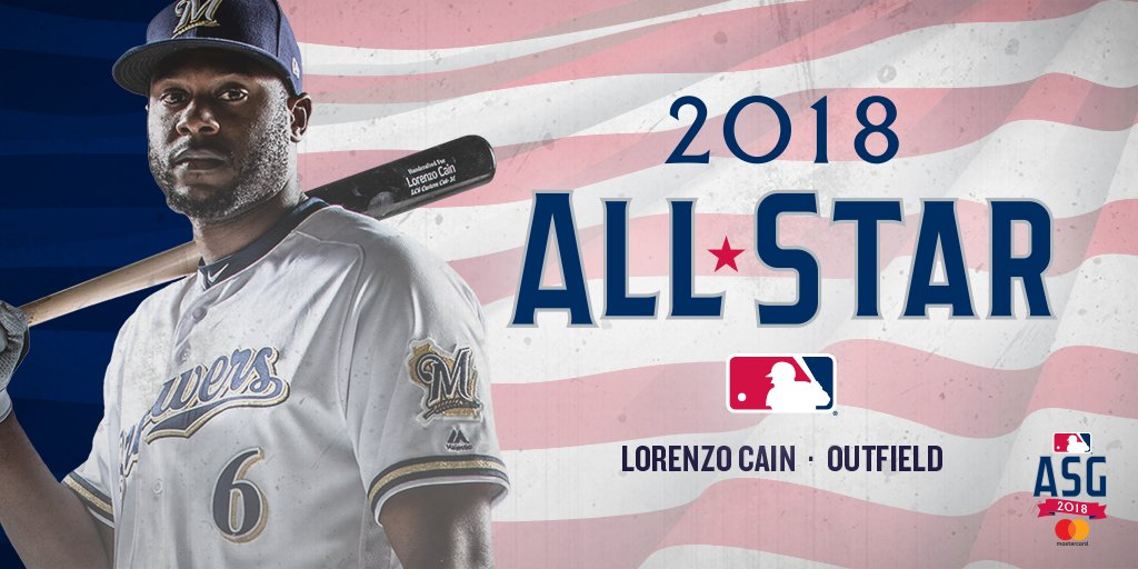 Congratulations to Lorenzo Cain on being named to his second all-star team! #ThisIsMyCrew https://t.co/0vZ6mQMRK7