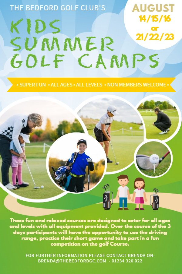 test Twitter Media - We're running Kids Summer Golf Camps in August for children of all ages and levels. All equipment will be provided and non members are very welcome. For more information and to book please call Brenda on 01234 320 022 or email brenda@thebedfordgc.com. https://t.co/2VhDYYNKuP