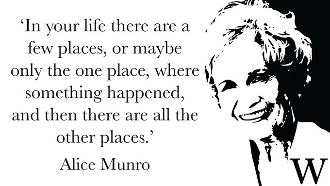 - Alice Munro, who celebrates her birthday today. Happy birthday! via