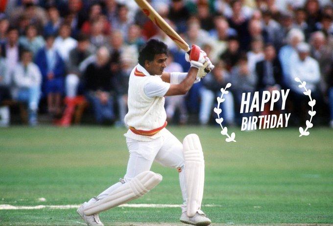 Happy Birthday Sunil Gavaskar  ICC