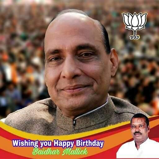 Wishing you happy Birthday Hon\ble Union Minister Rajnath Singh ji.
