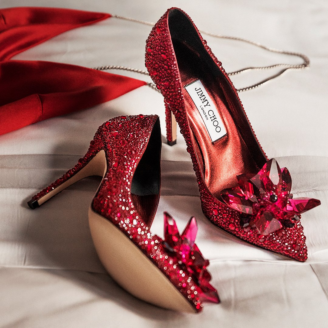 Shoes of dreams. the ruby red crystal covered avril pumps will ...