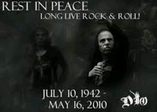 Happy Birthday in Heaven for Ronnie James Dio. My Respects always to a great Master of Metal. R.i.p.