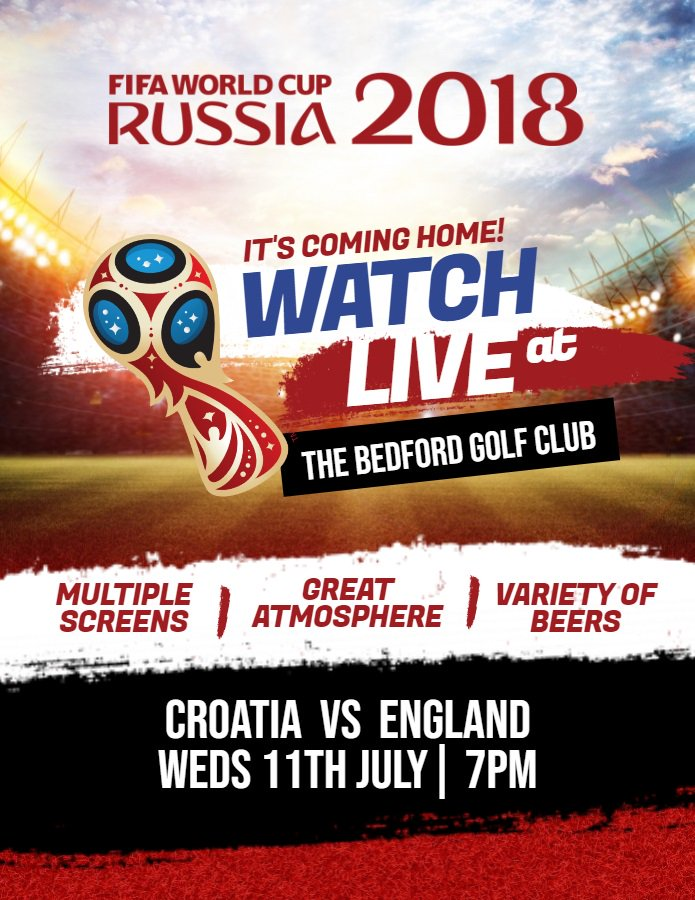 test Twitter Media - If you're looking for somewhere to watch the semi final of the World Cup tomorrow, then look no further than The Bedford. We'll be showing every moment live with a variety of drinks available, great service and multiple screens to ensure everyone gets a great view of the game! https://t.co/1qrKQy58Lg