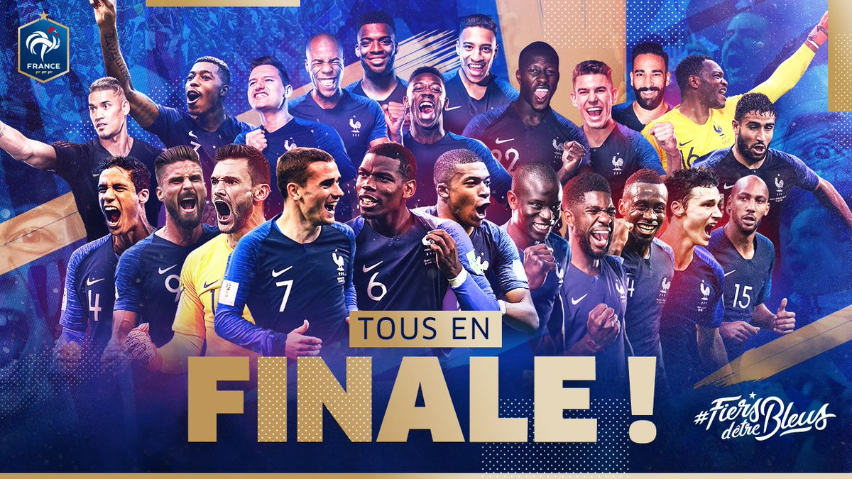 RT @equipedefrance: ON EST EN FINAAAAAAAALE !!!!!  #FiersdetreBleus https://t.co/TfUqDMJ058