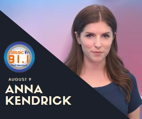 Happy birthday to Anna Kendrick; actress and singer. She began her career as a child actor in theater productions
