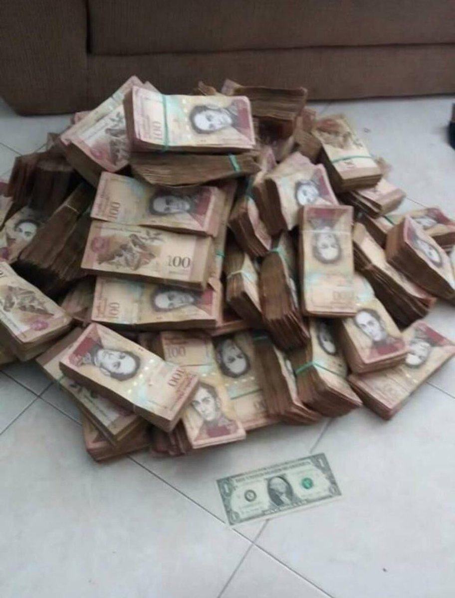 That pile of cash is the Venezuelan equivalent of one US dollar. Behold the power of socialism.