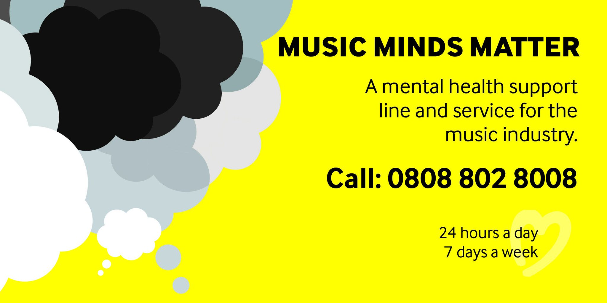 If you need someone to talk to, our #MusicMindsMatter 24/7 mental health support line and service offers FREE emotional support, advice and access to clinical pathways & professional therapeutic services.   Call 0808 802 8008 or email MMM@helpmusicians.org.uk 💛 https://t.co/LbKDAojf3p