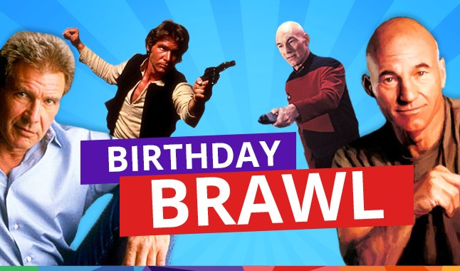 Happy birthday to both Harrison Ford AND Patrick Stewart!