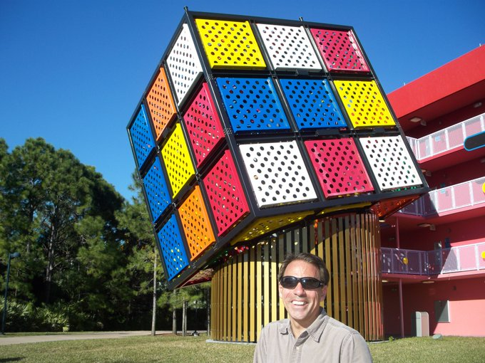 7/13 Happy Birthday to Erno Rubik, inventor of the Rubik\s Cube.  Lake Buena Vista, Phlorida