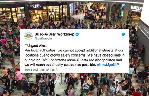 Build A Bear was forced to tur build a bear