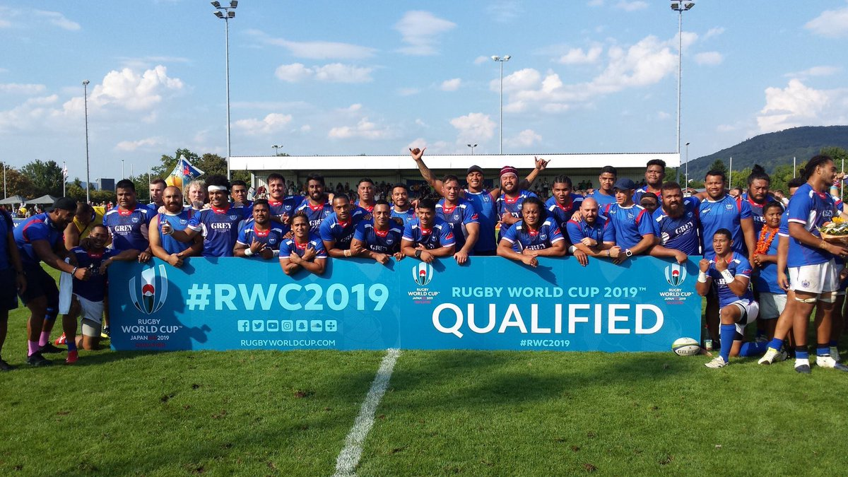 test Twitter Media - Congratulations to Samoa who have qualified for Rugby World Cup 2019, and take the final spot in Pool A #RWC2019 https://t.co/VJcKq4dmU8