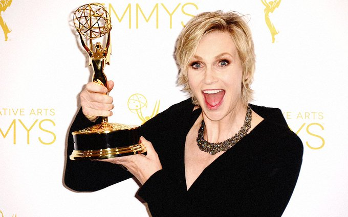 Happy birthday to four-time Emmy winner (and a double nominee this year) Jane Lynch!