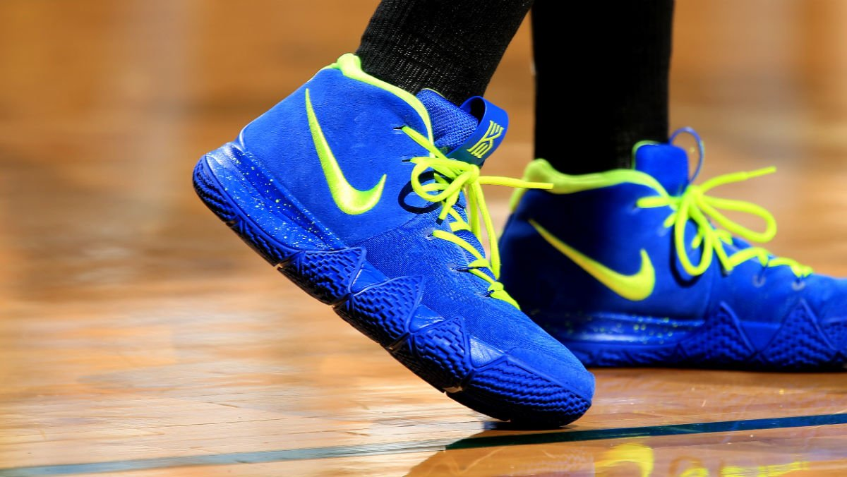 b8aaa52cdee3  solewatch   kbt 5blessed rocking a bright nike kyrie 4 id. Share on Twitter