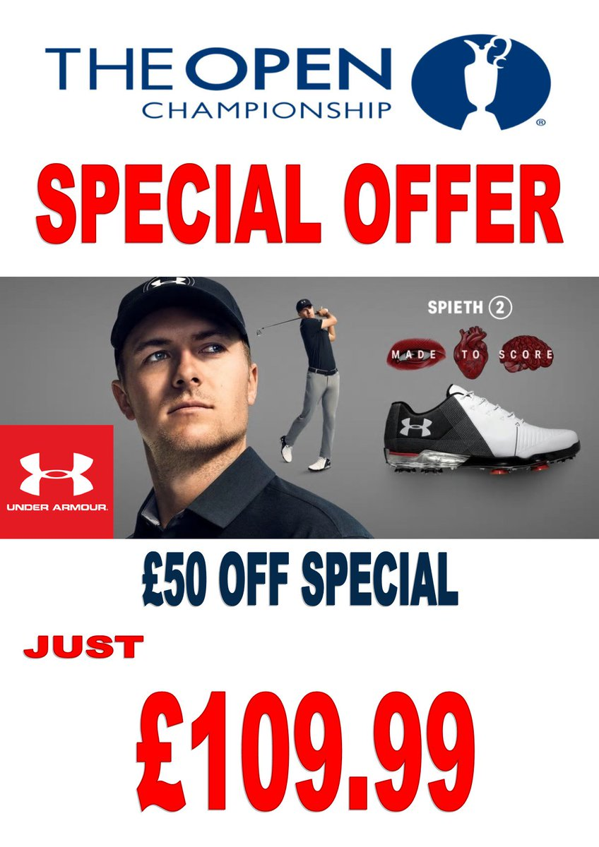 test Twitter Media - AVAILABLE FROM MONDAY 16TH JULY  #TheOpen #SpecialOffer ⛳️🏌️‍♂️  @UnderArmour @JordanSpieth 2.0 #Golf Shoes just £109.99!! £50 OFF!!!  HURRY!! Limited Stock Available.  For more information visit https://t.co/sjYK8ua007 or call us on 01446 781781 (opt. 1) https://t.co/uLbdDNMGNA