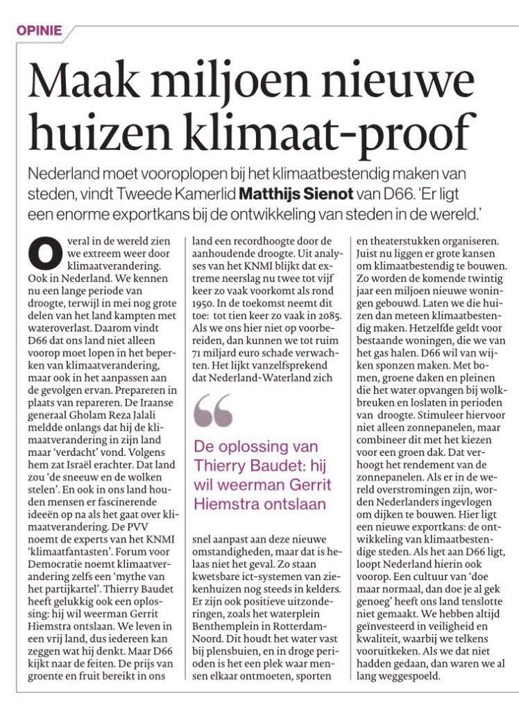 test Twitter Media - Extreme droogte ☀️ en extreme neerslag 🌧 komen steeds vaker voor in Nederland.  Thierry Baudet wil het klimaatprobleem oplossen door weerman Gerrit Hiemstra te ontslaan. Kamerlid @MatthijsSienot wil onze huizen klimaatbestendig maken, met groene daken en zonnepanelen. 👇 https://t.co/e70BU2iLxu