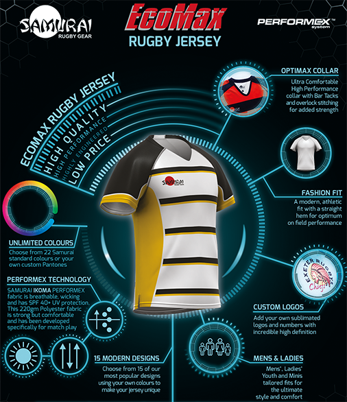 test Twitter Media - Our EcoMax™ Rugby jersey has been developed to provide a high quality, functional jersey at an affordable price! Enhanced with a moisture management system choose from 15 design options in any colour combination to ensure that you look and perform at your best! 📞01508 531010 https://t.co/LqY91tfkwC
