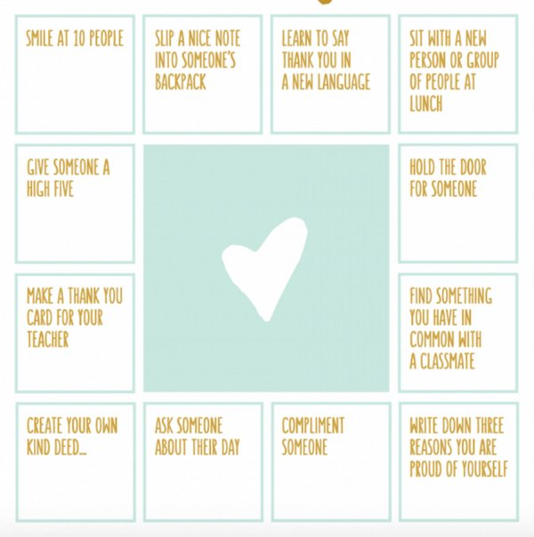 test Twitter Media - Use this bingo-like 'kindness game' as a fun way to encourage random acts of kindness: https://t.co/NS18QuRCsy #SEL https://t.co/1mZNe3FdZR