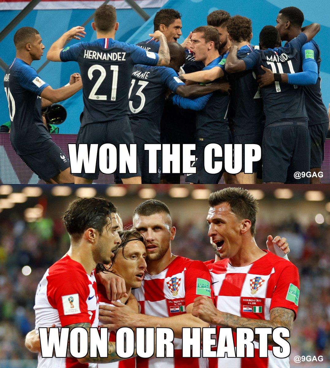 Congrats #france and #croatia. You have both done a great job at #worldcup! https://t.co/fCiR6ZXfgi