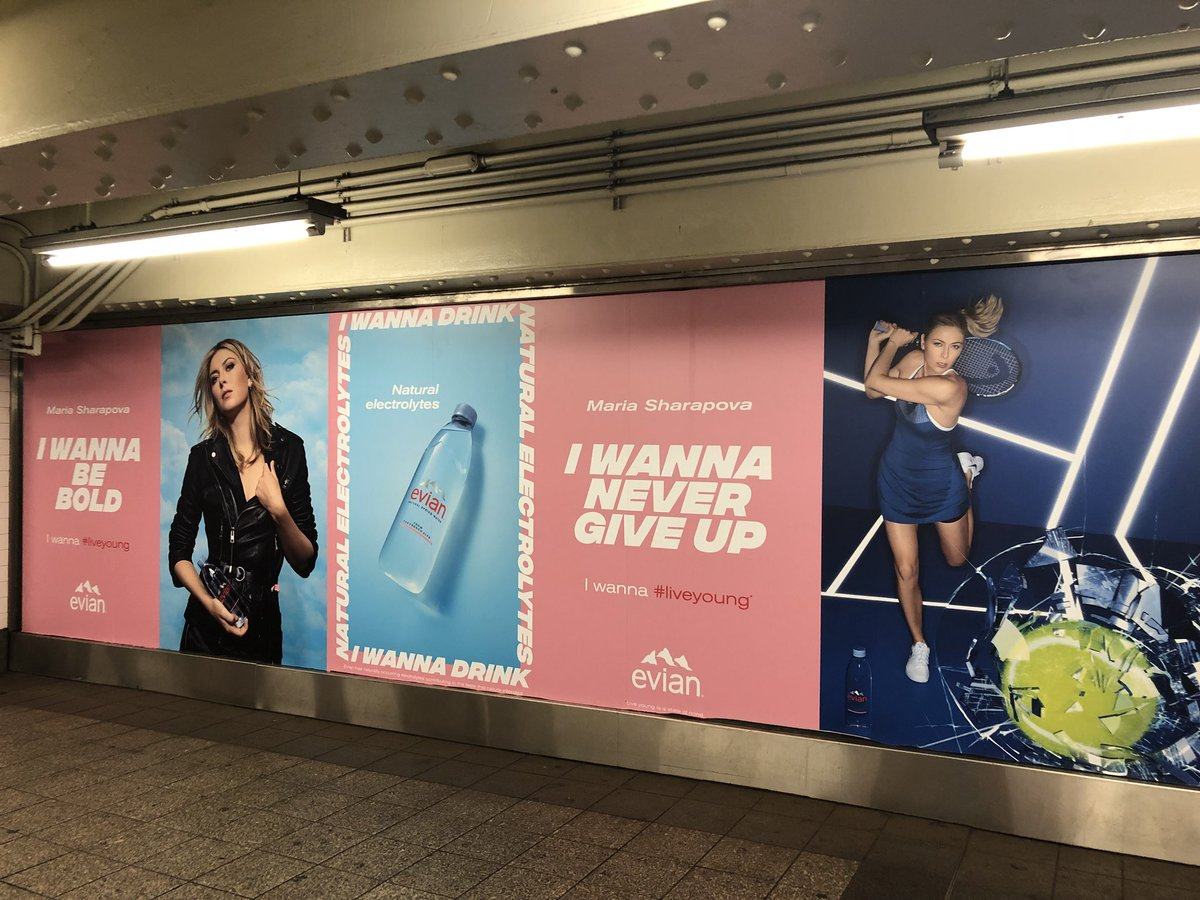 RT @oliviasanchez: .@MariaSharapova and @Madison_Keys rockin' it in the NY subway @evianwater https://t.co/eoFPhsXljo