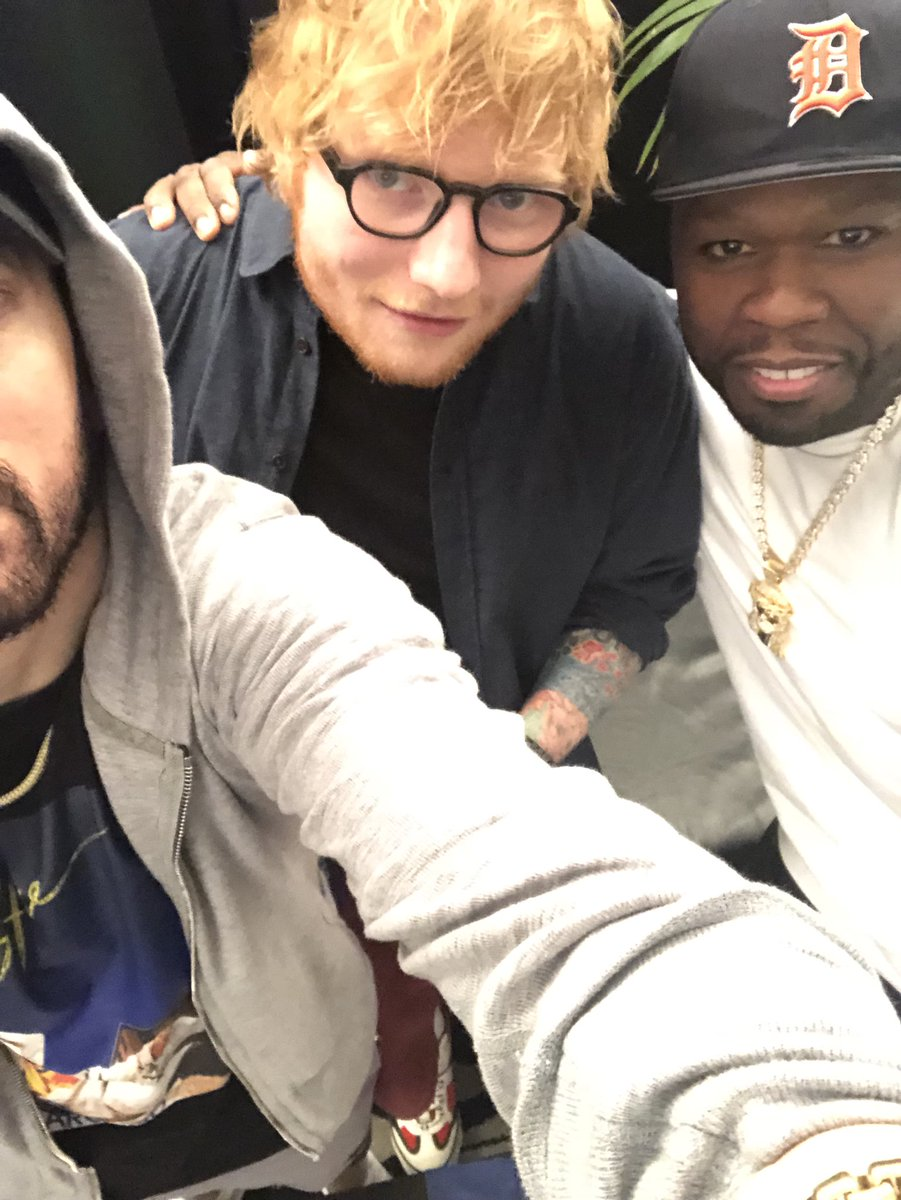 Thank you @edsheeran and @50cent for joining my collection of legendary selfies #selfie???? https://t.co/Zfk7QQIskk