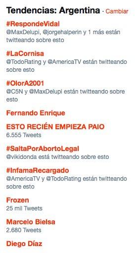 RT @Adntv: #OlorA2001 es 3era tendencia en Argentina ¡MUCHAS GRACIAS POR PARTICIPAR DE ADN! ► @C5N https://t.co/PTPYrzShSN
