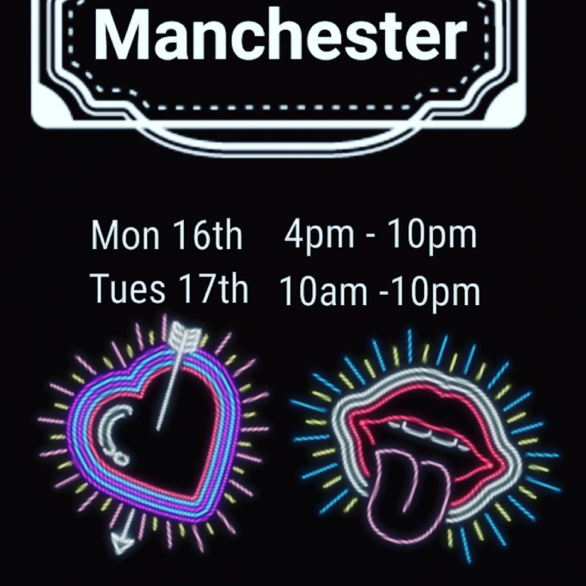 1 pic. Great first day in Manchester! Still a chance too come and see me and Jasmine Lau tommrow 10 am
