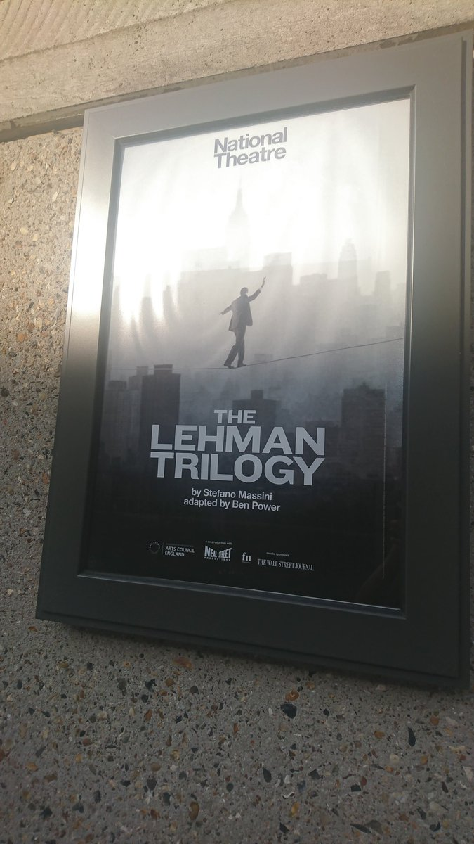 test Twitter Media - #IntervalTweet I came with no expectations. One thinks of Wall Street & modern-day bankers, but here at @NationalTheatre we have a concise, tender + touching play by Stefano Massini. Simon Russell Beale, Ben Miles & Adam Godley make the story of #Lehmantrilogy a legendary tale https://t.co/q6dxjjeHus
