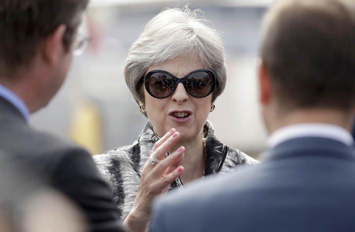 @BroadcastImagem: Reino Unido quer livre comércio de bens com UE e acordos com outras nações. Matt Dunham/AP