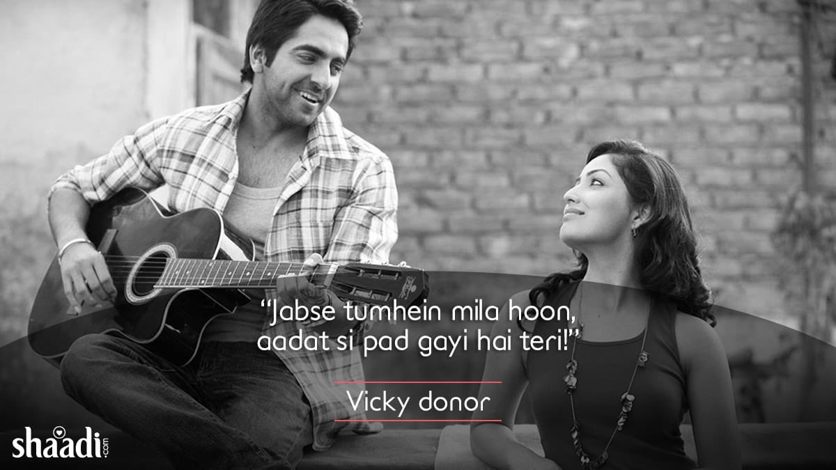 test Twitter Media - One look at you! That's all it takes to make my heartbeat faster.  #VickyDonor #bollywood #quotes https://t.co/2WaNVXqVhe