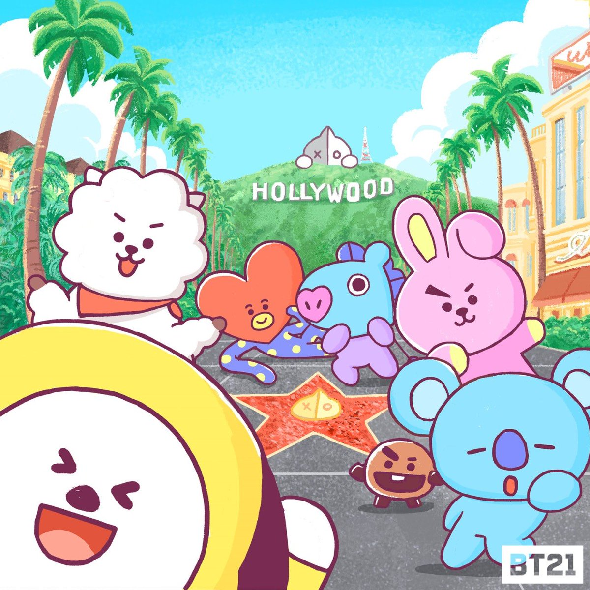 test Twitter Media - Home to stars, Hollywood! Here we come!  <Location> 6922 Hollywood Blvd, Los Angeles, CA 90028   #BT21 #LA #HOLLYWOOD #COMINGSOON #JULY27 https://t.co/RGFw9H5dUy