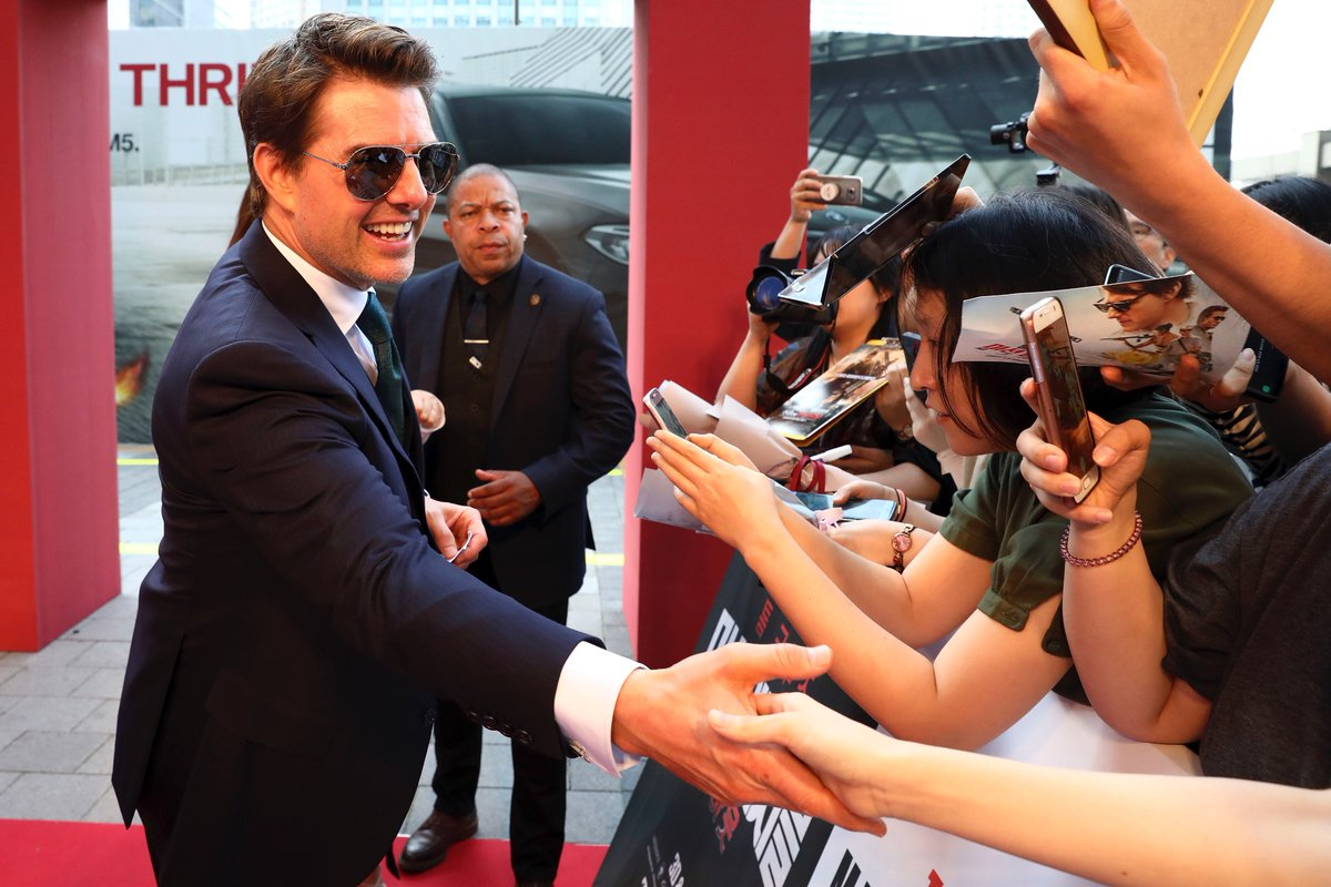Thank you, Seoul for such a warm welcome! #MissionImpossible Fallout https://t.co/1AjhcvxrBf
