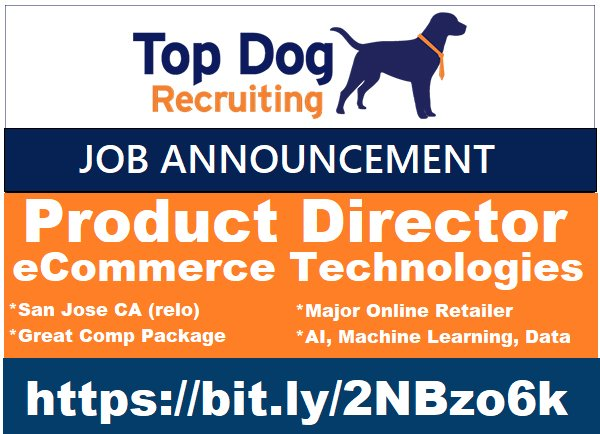 test Twitter Media - HIRING PRODUCT DIRECTOR - ECOM #productdevelopment #productmanager #director #product #MachineLearning #ML #AI #artificialIntelligence #ecommerce #techjobs #productmgtjobs #ebay #walmart #amazon #nike #retail #etail #bigdata #techjobs #itjobs #jobs #jobsearch #MondayMotivation https://t.co/GDZ2iPId3h