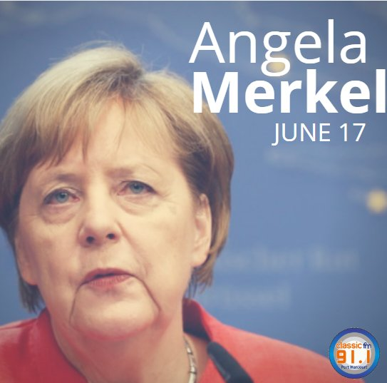 Happy birthday to German Chancellor, Angela Merkel