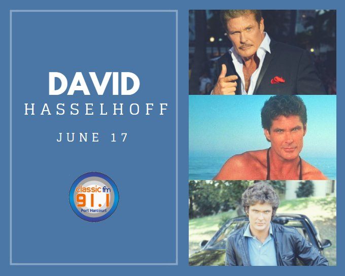 Happy birthday to TV actor David Hasselhoff (Baywatch, Nightrider)