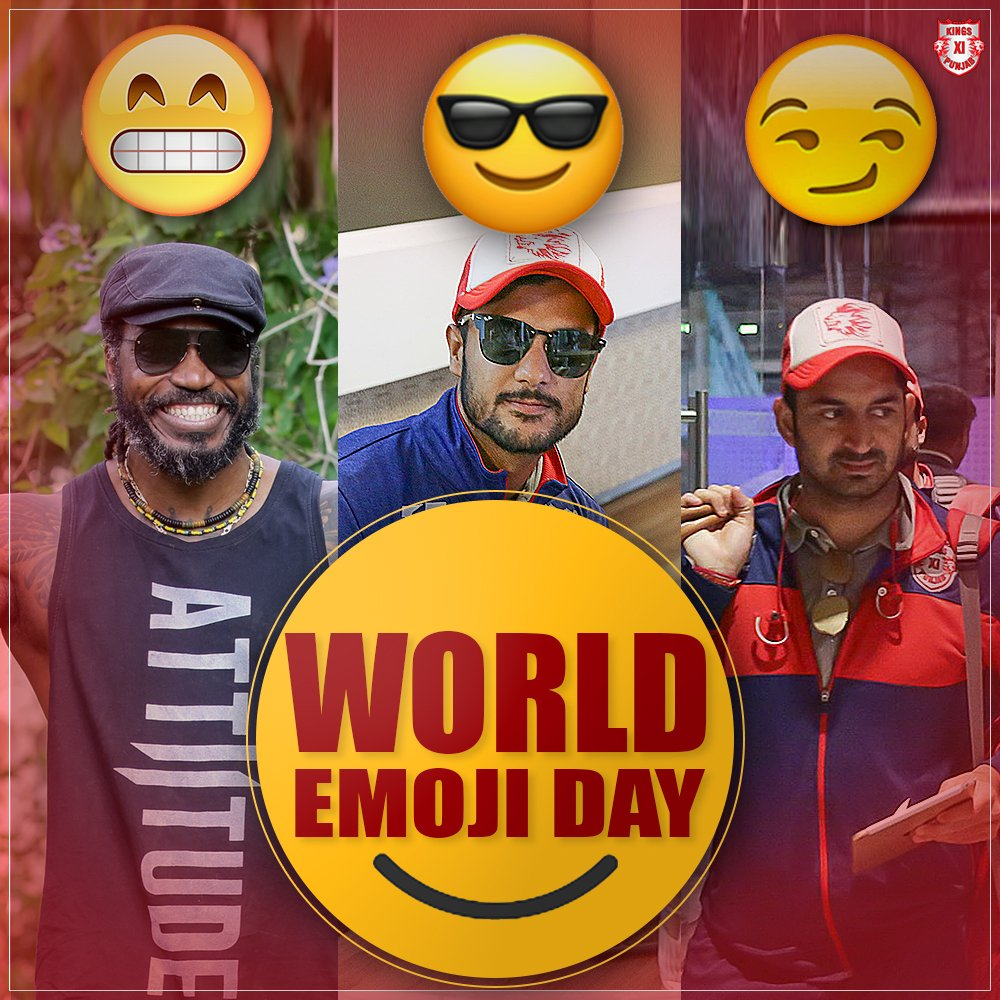 Who do you think has the best emoticon face? ??  #WorldEmojiDay #LivePunjabiPlayPunjabi #KXIP https://t.co/ICxZqR8dIz