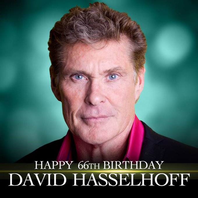 Happy Birthday to Baywatch star David Hasselhoff!
