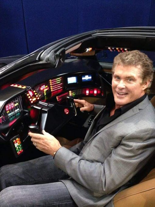 "Happy Birthday David Hasselhoff aka ""The Hoff\"" turning 66.  80s BadAss! Classic  \""Knight Rider\"" ."