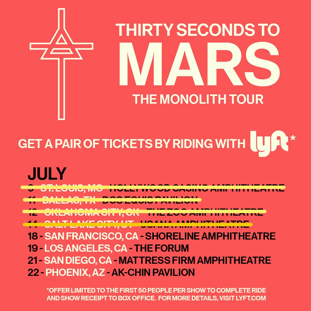 Anyone need a @Lyft to the show tonight in San Francisco? Call a ride + score 2 #MonolithTour tix on us ???????????????? https://t.co/rytpH1CdIZ