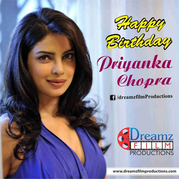 wishes a very  to Priyanka Chopra (Famous Bollywood/Hollywood actress)
