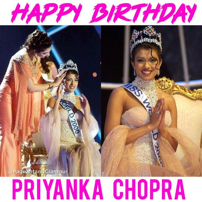 Happy Birthday Miss World 2000 Priyanka Chopra
