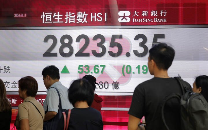 @BroadcastImagem: Bolsas da Ásia fecham sem sinal único, com Tóquio em alta, mas recuo em Xangai. Kin Cheung/AP