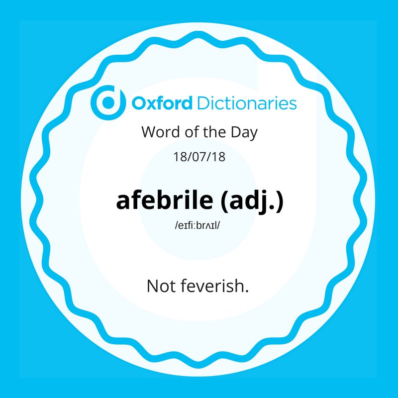 test Twitter Media - Word of the Day: afebrile https://t.co/YT65deMjWm https://t.co/sgsNO0mrDy