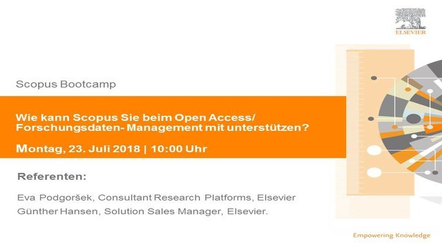 "test Twitter Media - Join our last free online #Scopus Bootcamp #webinar of this summer, on Monday 23rd July at 10:00-10:50 AM CEST: ""Wie kann Scopus Sie beim Open Access/ Forschungsdaten- Management mit unterstützen?"" Hosted in German.  Register here: https://t.co/fHTNT5OXEL https://t.co/N6hcW45FZB"