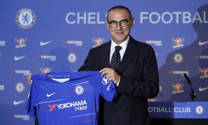 @BroadcastImagem: Maurizio Sarri é apresentado oficialmente no Chelsea. Kirsty Wigglesworth/AP