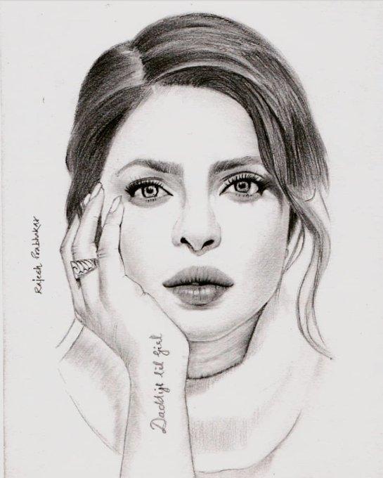 My Sketch :. Priyanka Chopra  Wishing u a very Happy Birthday!!