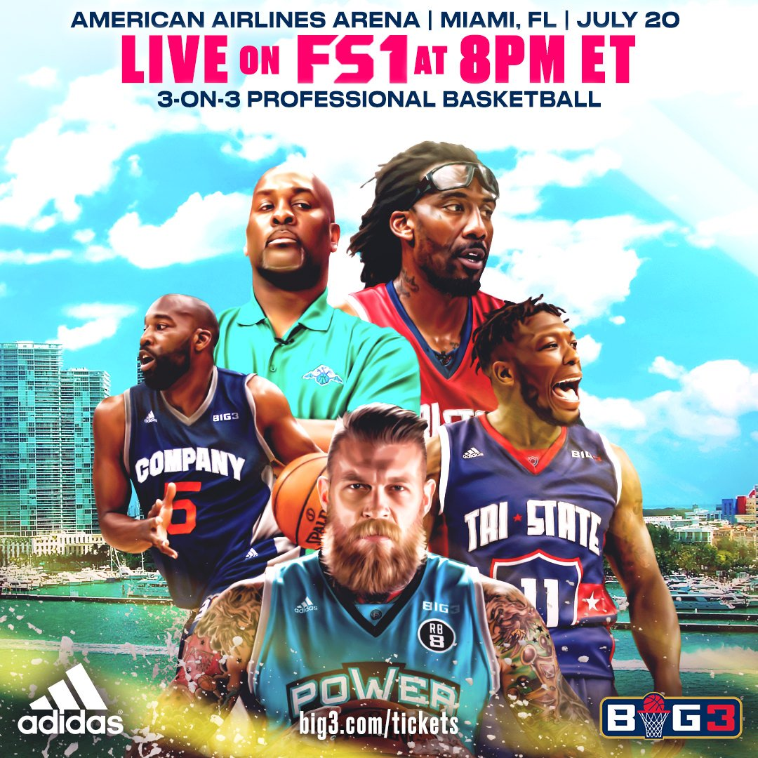 Miami this time @thebig3 is bringing the heat, game starts at 8pm on @FS1 https://t.co/a4fZZLu5PJ