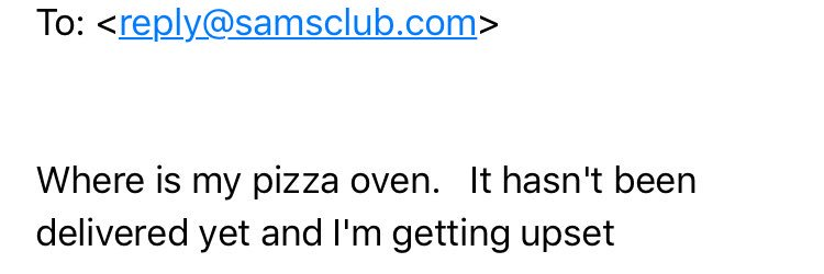 My dads email to Sam's Club is sam's club